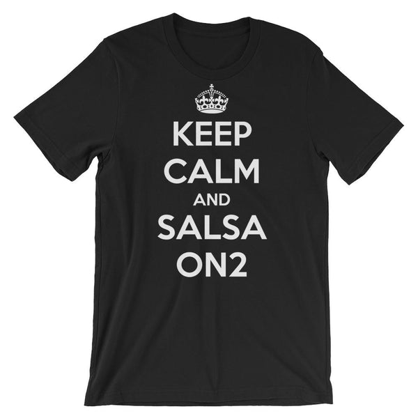 Keep Calm and Salsa On 2 - Women's T-Shirt (Black)