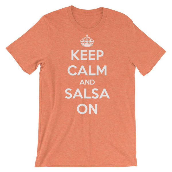 Keep Calm and Salsa On - Men's T-Shirt (Heather Orange)