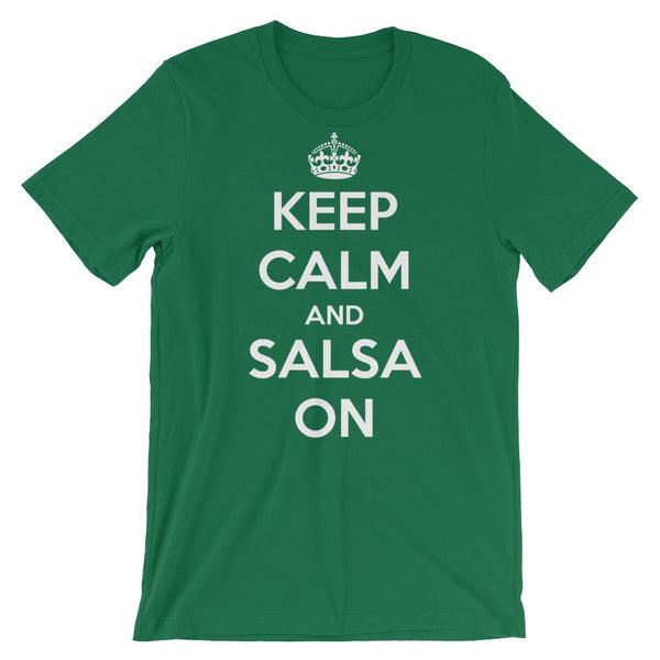 Keep Calm and Salsa On - Men's T-Shirt (Kelly)