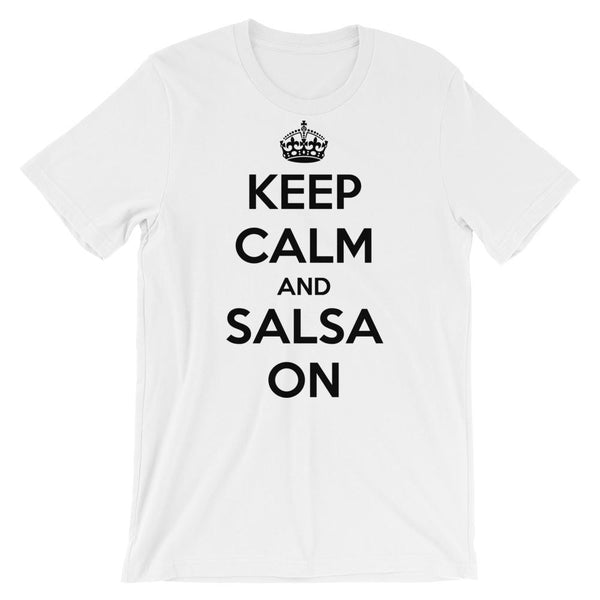 Keep Calm and Salsa On - Men's T-Shirt (White)