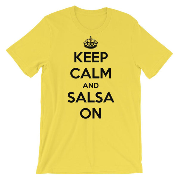 Keep Calm and Salsa On - Men's T-Shirt (Yellow)