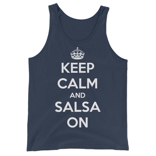Keep Calm and Salsa On - Men's Salsa Dancing Tank Top