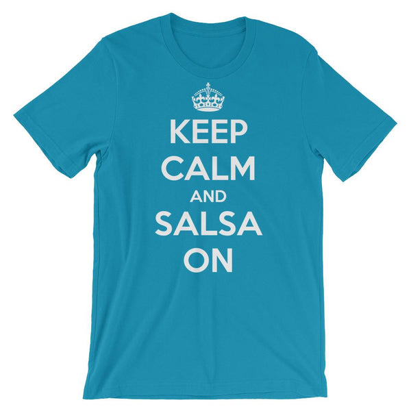 Keep Calm and Salsa On - Women's T-Shirt (Aqua)