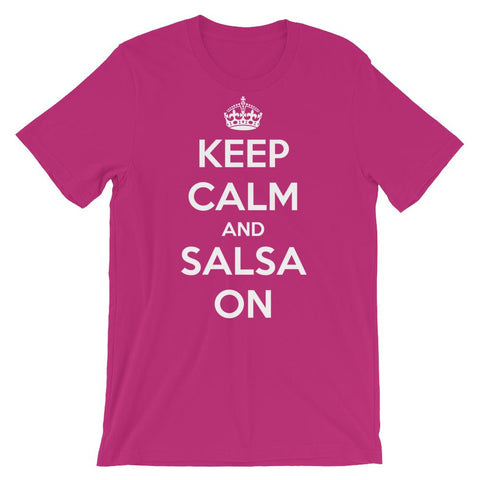 Keep Calm and Salsa On - Women's T-Shirt (Berry)