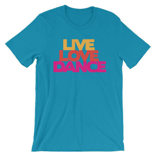 Live Love Dance - Women's T-Shirt (Aqua)