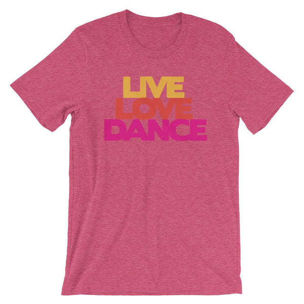 Live Love Dance - Women's T-Shirt (Heather Raspberry)