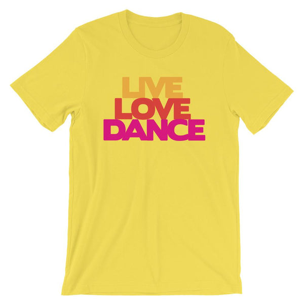 Live Love Dance - Women's T-Shirt (Yellow)