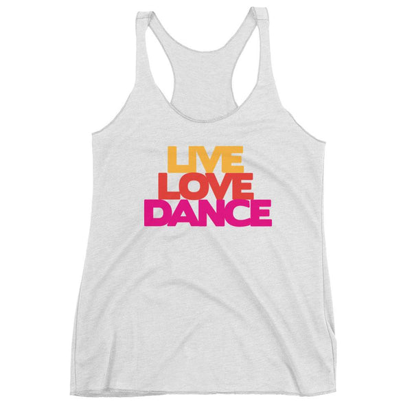Live Love Dance - Women's Tank Top (Heather White)