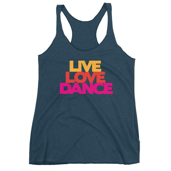 Live Love Dance - Women's Tank Top (Indigo)