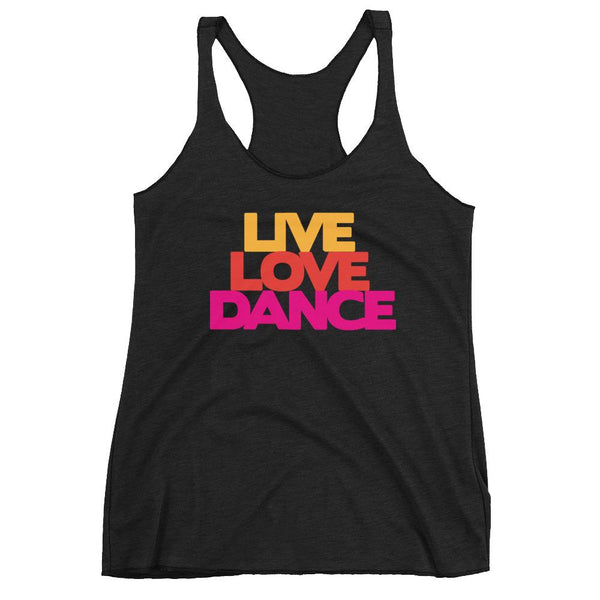 Live Love Dance - Women's Tank Top (Vintage Black)