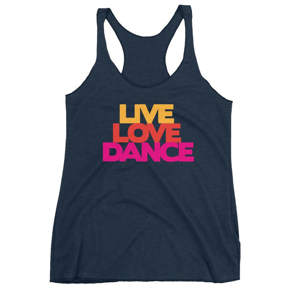 Live Love Dance - Women's Tank Top (Vintage Navy)