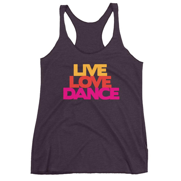 Live Love Dance - Women's Tank Top (Vintage Purple)