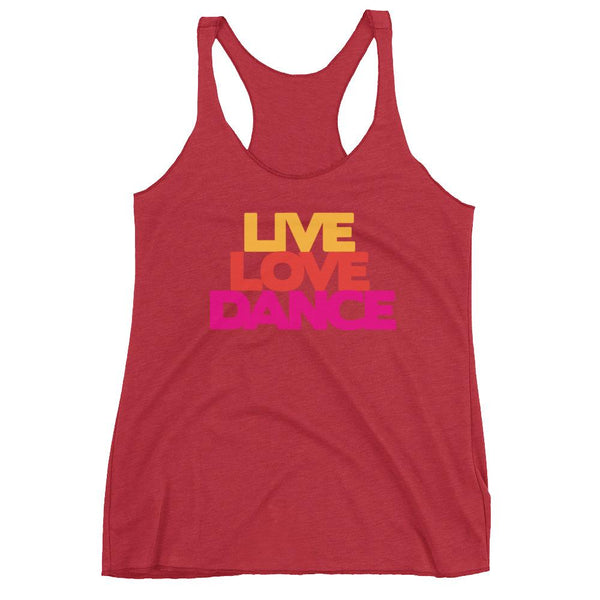 Live Love Dance - Women's Tank Top (Vintage Red)