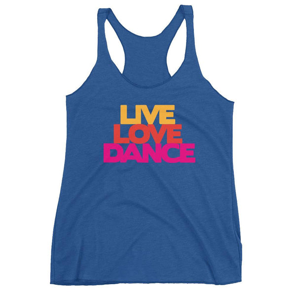 Live Love Dance - Women's Tank Top (Vintage Royal)