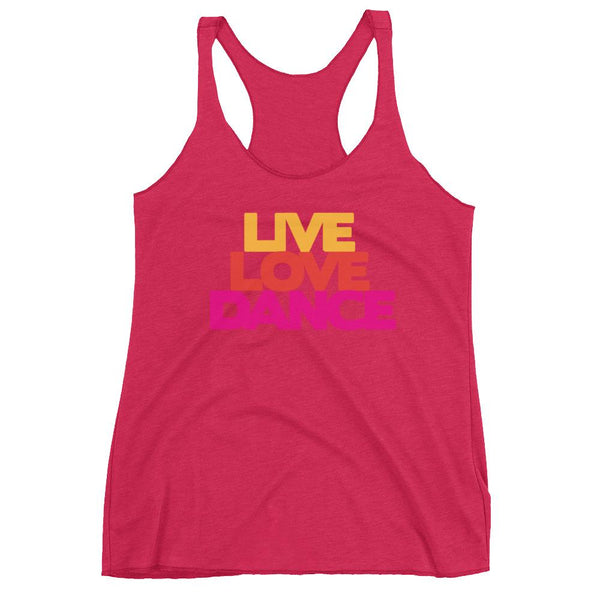 Live Love Dance - Women's Tank Top (Vintage Shocking Pink)