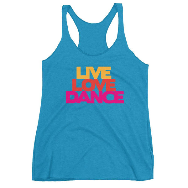 Live Love Dance - Women's Tank Top (Vintage Turquoise)