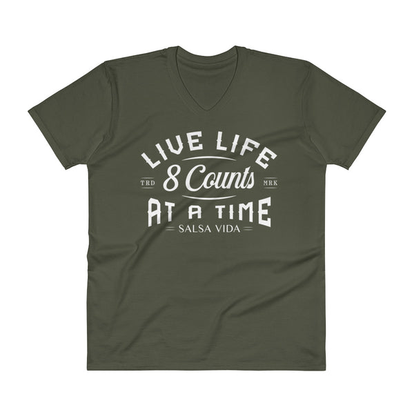 Live Life 8 Counts At A Time - V-Neck T-Shirt