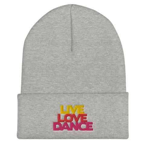 Live Love Dance- Cuffed Beanie