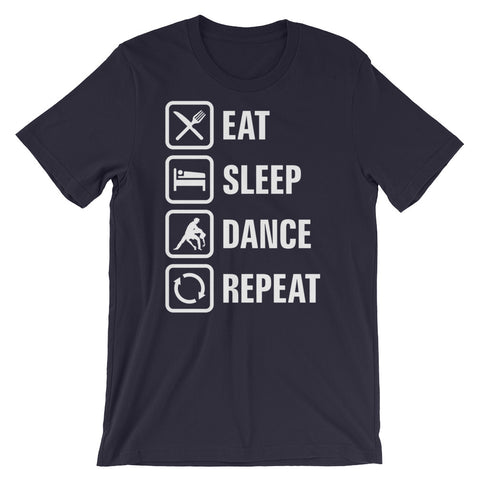 Eat Sleep Dance Repeat - Men's Salsa Dancing T-Shirt