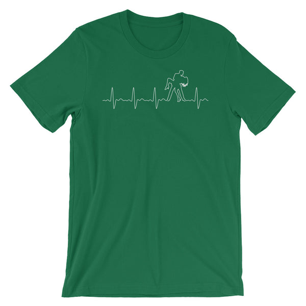 Salsa Heartbeat Pulse - Men's T-Shirt (Aqua)
