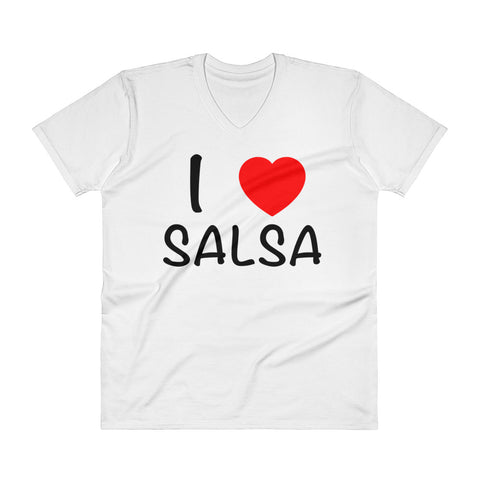 I Heart Salsa - Men's V-Neck T-Shirt