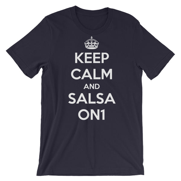 Keep Calm and Salsa On 1 - Women's Salsa Dancing T-Shirt