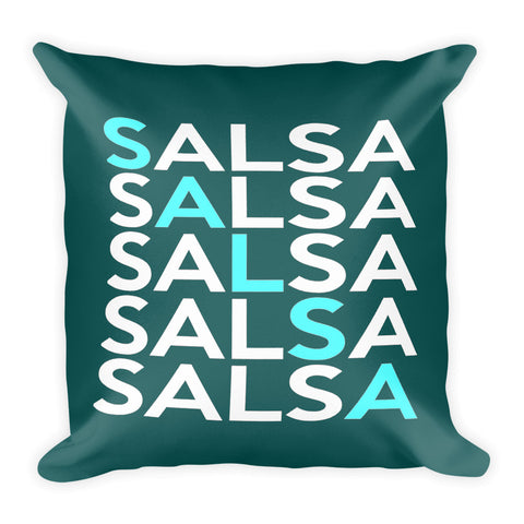 Salsa Salsa Salsa Pillow (Blue)
