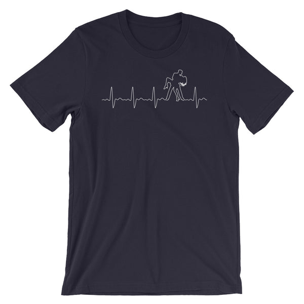 Salsa Heartbeat Pulse - Men's T-Shirt (Dark Grey Heather)