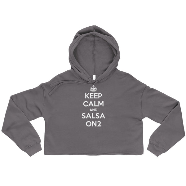 Keep Calm and Salsa On2 - Crop Hoodie