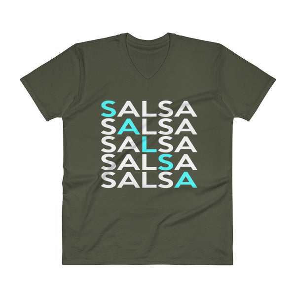 Salsa x5 - Men's V-Neck T-Shirt