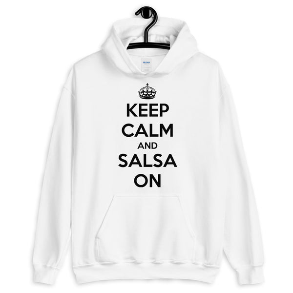 Keep Calm And Salsa On - Men's Hoodie