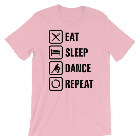 Eat Sleep Dance Repeat - Women's Salsa Dancing T-Shirt