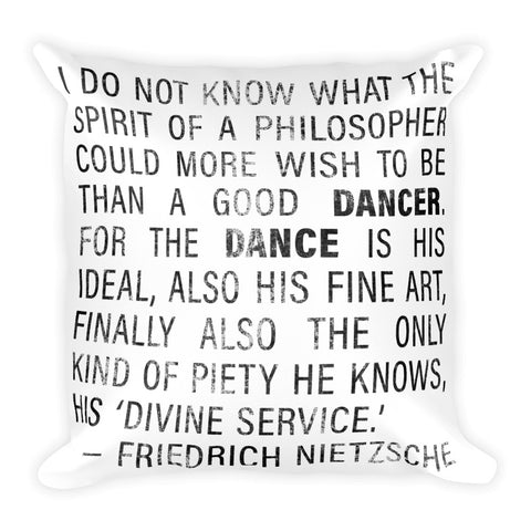 Nietzsche Quote Pillow