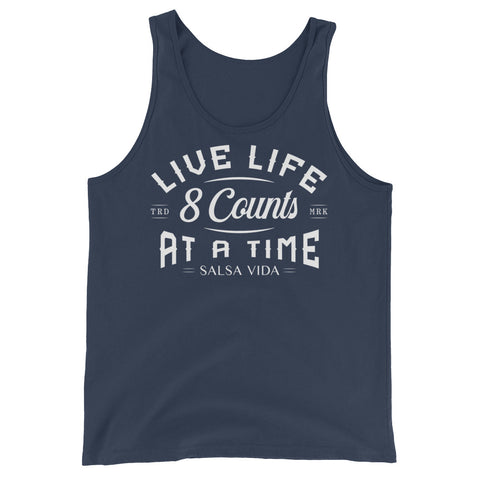 Live Life 8 Counts At A Time - Men's Salsa Dancing Tank Top