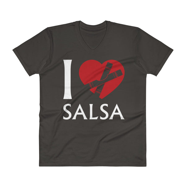 I Heart Salsa (Clave) - Men's V-Neck T-Shirt