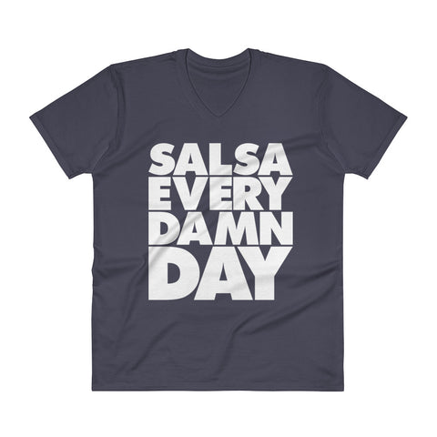 Salsa Every Damn Day - Men's V-Neck T-Shirt