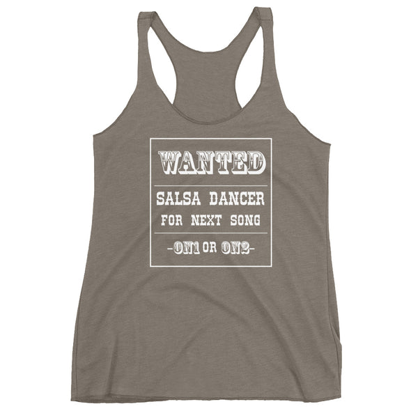 Salsa Dancer Wanted - Women's Salsa Dancing Tank Top