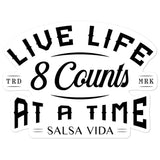 8 Counts At A Time - Sticker