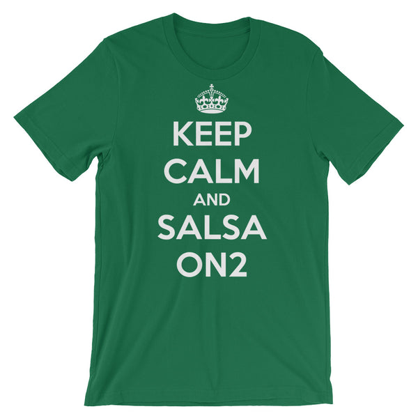 Keep Calm and Salsa On 2 - Men's Salsa Dancing T-Shirt
