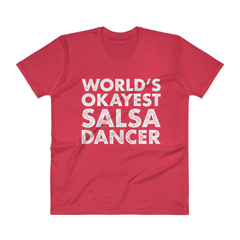 World's Okayest Salsa Dancer - Men's V-Neck T-Shirt