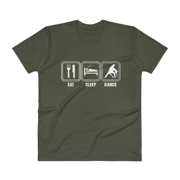Eat Sleep Dance - Men's V-Neck T-Shirt