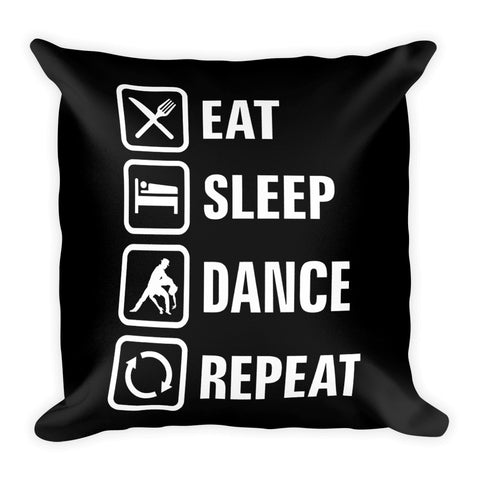 Eat Sleep Dance Pillow