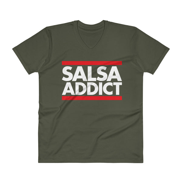 Salsa Addict - Men's V-Neck T-Shirt