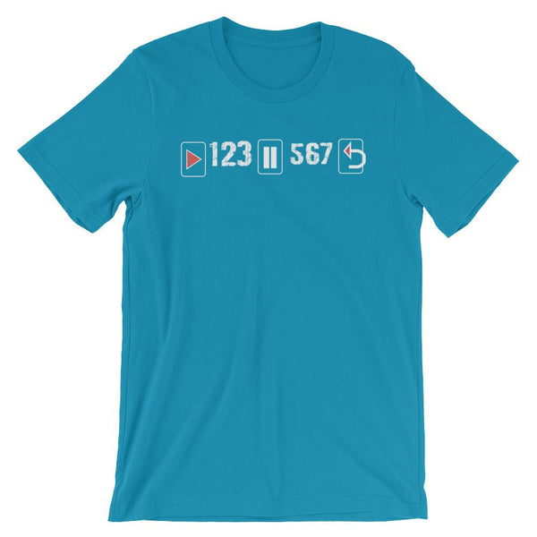 Play Pause Repeat - Women's T-Shirt (Aqua)