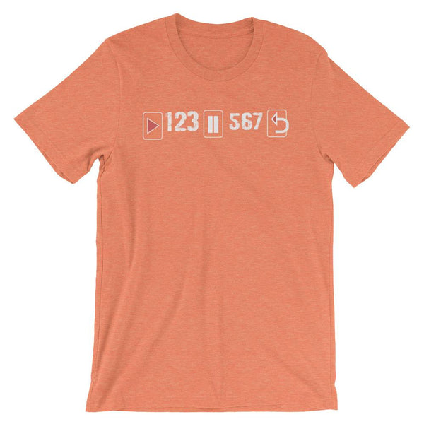 Play Pause Repeat - Women's T-Shirt (Heather Orange)