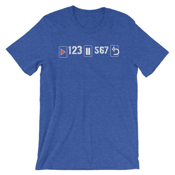Play Pause Repeat - Women's T-Shirt (Heather True Royal)