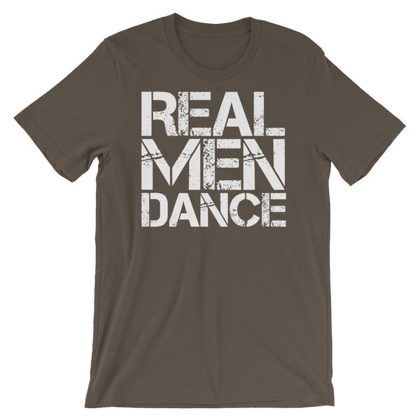Real Men Dance (Square) - Men's T-Shirt (Army)