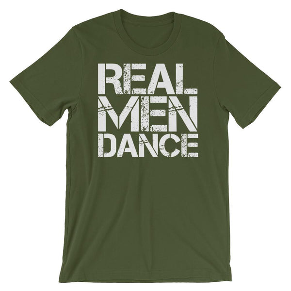 Real Men Dance (Square) - Men's T-Shirt (Olive)