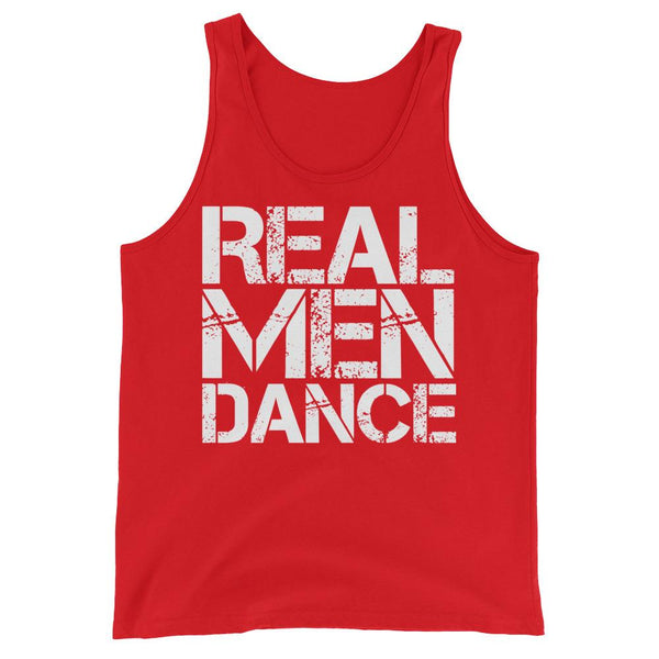 Real Men Dance (Square) - Men's Tank Top (Red)