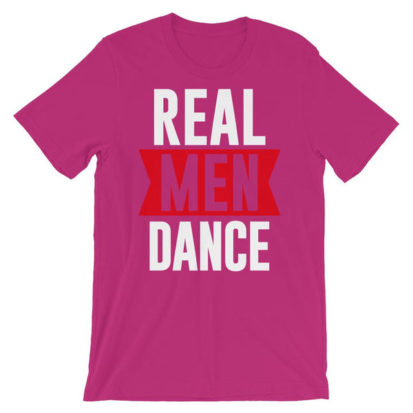 Real Men Dance (Tall) - Men's T-Shirt (Berry)